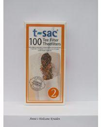 Theezakjes maat 2-100 stuks